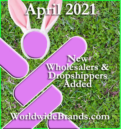 April 2021 – Wholesalers and Dropshippers Added
