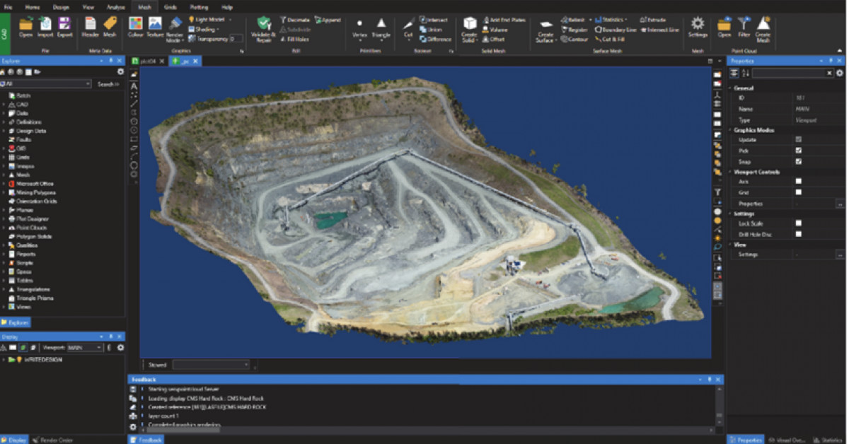 Datamine Delivers Highly effective Visualization to Mining Clients with HOOPS Visualize