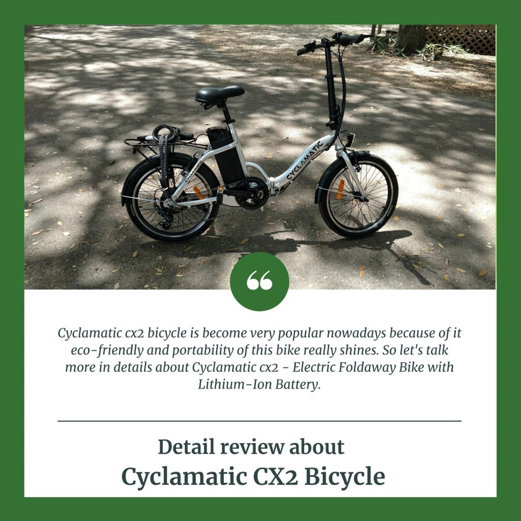 Element Evaluation About Cyclamatic CX2 Bicycle Electrical Foldaway Bike