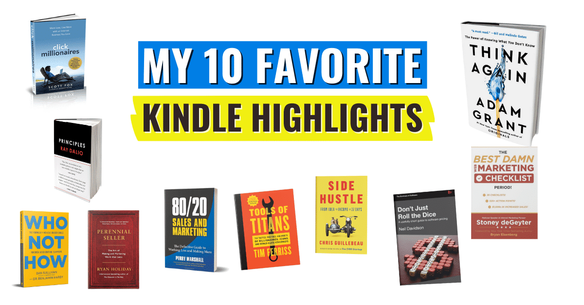 My 10 Favourite Kindle Highlights for 2021