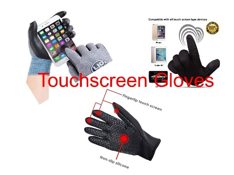 What are Touchscreen Gloves made from?