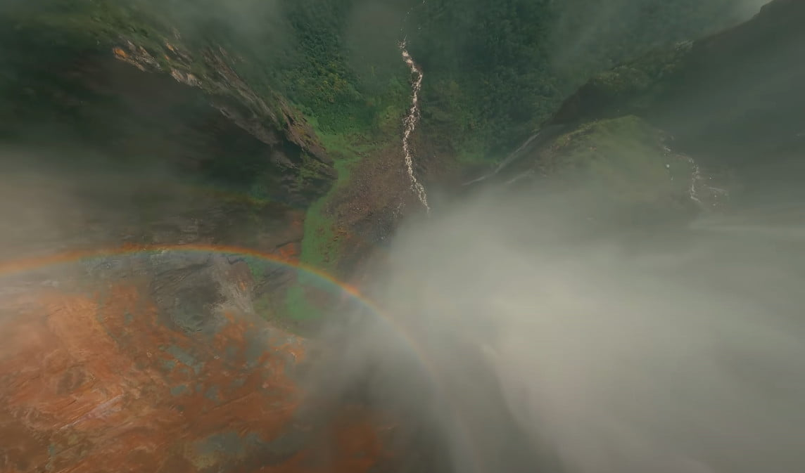 Watch this FPV drone tackle the world's highest waterfall