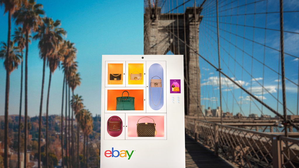 eBay Drops Luxurious Purses Machines Into Iconic Neighborhoods, Bringing Coveted Designers Into the Palms of Consumers