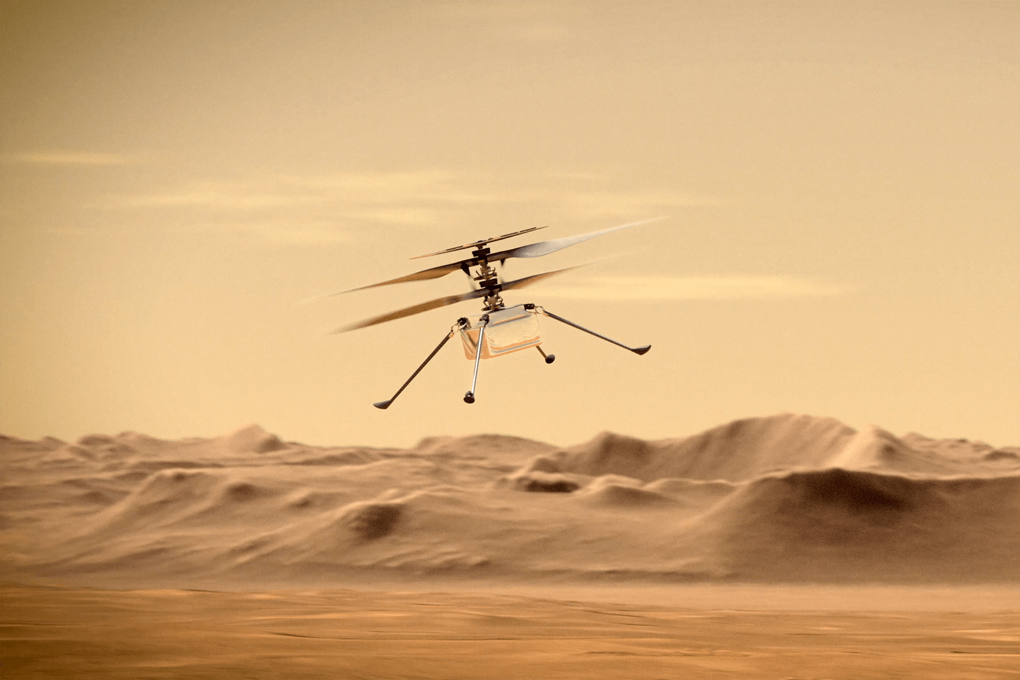 NASA's Ingenuity helicopter nails 'dangerous' twelfth flight on the purple planet