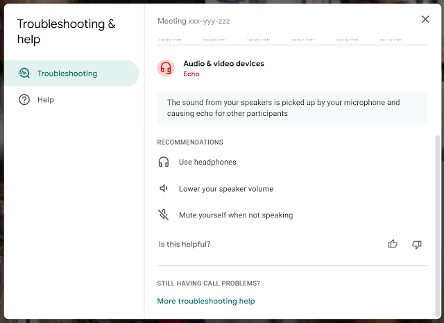 Google Meet will now let you know when you're the one inflicting the echo